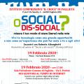 SOCIAL O DIS-SOCIAL? misura il tuo modo di stare (bene) nella rete.
