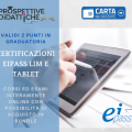CERTIFICAZIONE EIPASS LIM E TABLET